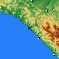 Nearby Forecast Locations - Tuapsé - Mapa