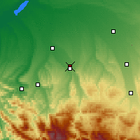 Nearby Forecast Locations - Maikop - Mapa