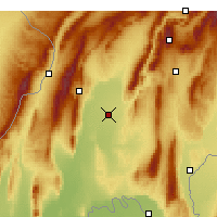 Nearby Forecast Locations - Qurghonteppa - Mapa