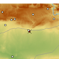 Nearby Forecast Locations - Qamishli - Mapa