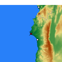 Nearby Forecast Locations - Latakia - Mapa