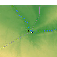 Nearby Forecast Locations - Al-Bukamal - Mapa