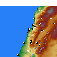 Nearby Forecast Locations - Beirut - Mapa