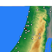 Nearby Forecast Locations - Beit Dagan - Mapa