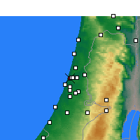 Nearby Forecast Locations - Tel Aviv - Mapa