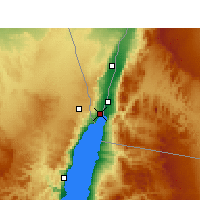 Nearby Forecast Locations - Eilat - Mapa