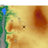 Nearby Forecast Locations - Mafraq - Mapa