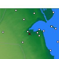 Nearby Forecast Locations - Sulaibiya - Mapa