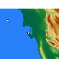 Nearby Forecast Locations - Bushehr - Mapa