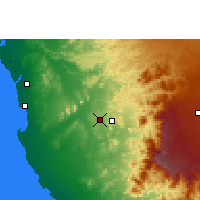 Nearby Forecast Locations - La Meca - Mapa