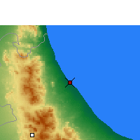 Nearby Forecast Locations - Sohar - Mapa