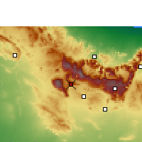 Nearby Forecast Locations - Jebel Shams - Mapa