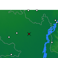 Nearby Forecast Locations - Rangpur - Mapa