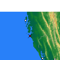 Nearby Forecast Locations - Cox's Bazar - Mapa