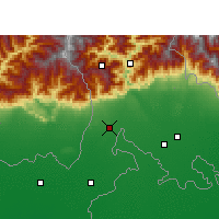 Nearby Forecast Locations - Siliguri - Mapa