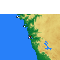 Nearby Forecast Locations - Honavar - Mapa