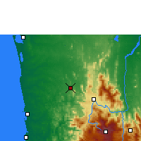 Nearby Forecast Locations - Kurunegala - Mapa
