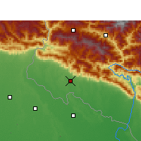 Nearby Forecast Locations - Dhangadhi - Mapa