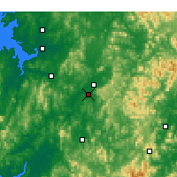Nearby Forecast Locations - Cheongju - Mapa