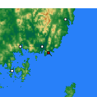 Nearby Forecast Locations - Busan - Mapa