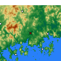 Nearby Forecast Locations - Jinju - Mapa