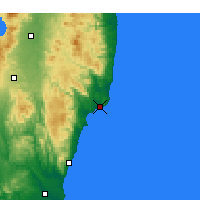 Nearby Forecast Locations - Onahama - Mapa