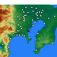 Nearby Forecast Locations - Yokohama - Mapa