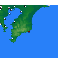 Nearby Forecast Locations - Katsuura - Mapa