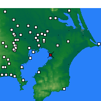 Nearby Forecast Locations - Chiba - Mapa