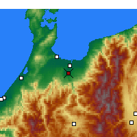 Nearby Forecast Locations - Toyama Aeropuerto - Mapa