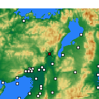 Nearby Forecast Locations - Kioto - Mapa