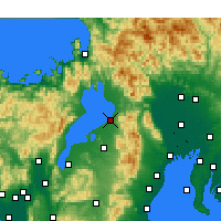 Nearby Forecast Locations - Hikone - Mapa