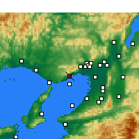 Nearby Forecast Locations - Kōbe - Mapa
