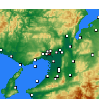 Nearby Forecast Locations - Osaka aeropuerto - Mapa