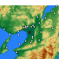 Nearby Forecast Locations - Osaka - Mapa