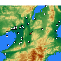 Nearby Forecast Locations - Nara - Mapa