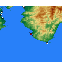 Nearby Forecast Locations - Shirahama - Mapa