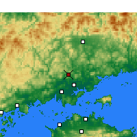 Nearby Forecast Locations - Okayama aeropuerto - Mapa