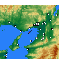 Nearby Forecast Locations - Kōbe Aeropuerto - Mapa