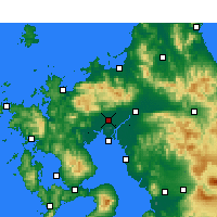 Nearby Forecast Locations - Saga - Mapa