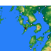 Nearby Forecast Locations - Nagasaki - Mapa