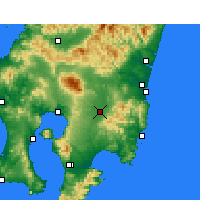 Nearby Forecast Locations - Miyakonojō - Mapa