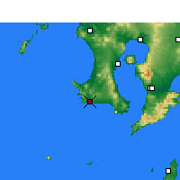 Nearby Forecast Locations - Makurazaki - Mapa