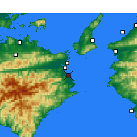 Nearby Forecast Locations - Komatsushima - Mapa