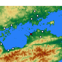 Nearby Forecast Locations - Tadotsu - Mapa
