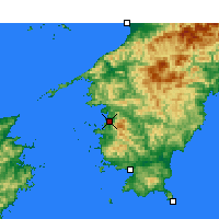 Nearby Forecast Locations - Uwajima - Mapa