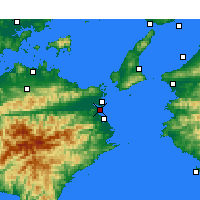 Nearby Forecast Locations - Tokushima - Mapa