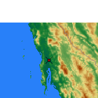 Nearby Forecast Locations - Dawei - Mapa