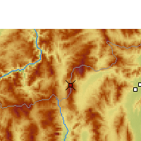 Nearby Forecast Locations - Doi Ang Khang - Mapa