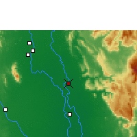 Nearby Forecast Locations - Phitsanulok - Mapa